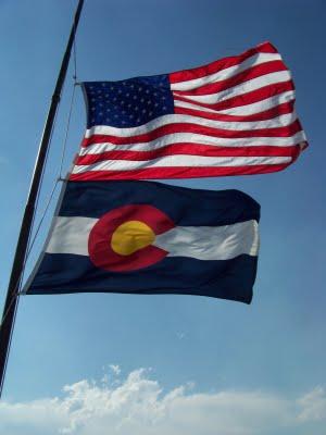 CO US Flag Half Mast