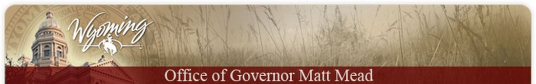 CLICK HERE to listen to WY Governor Mead...