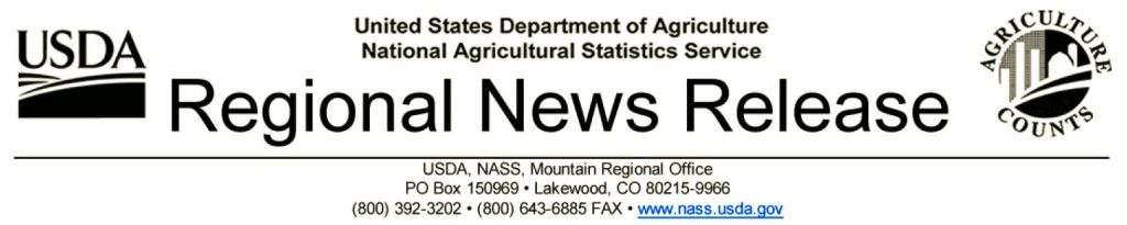 USDA NASS Regional Release