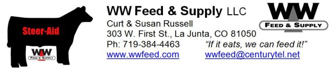 WW Feed and Supply Steer-Aid logo