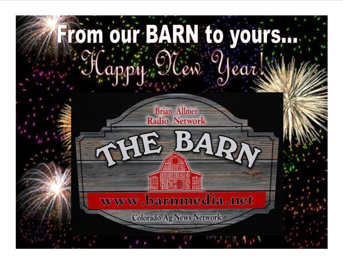 Happy New Year from our BARN to yours...