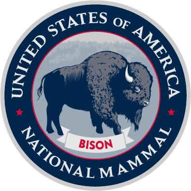United States of America National Mammal Seal Logo