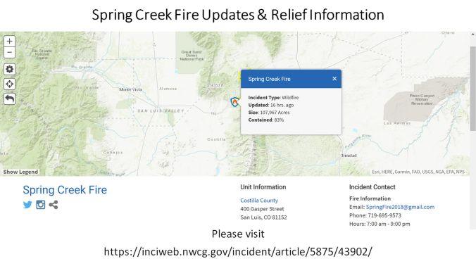07 12 18 Spring Creek Fire Update W Csu Extension S Carl Beeman
