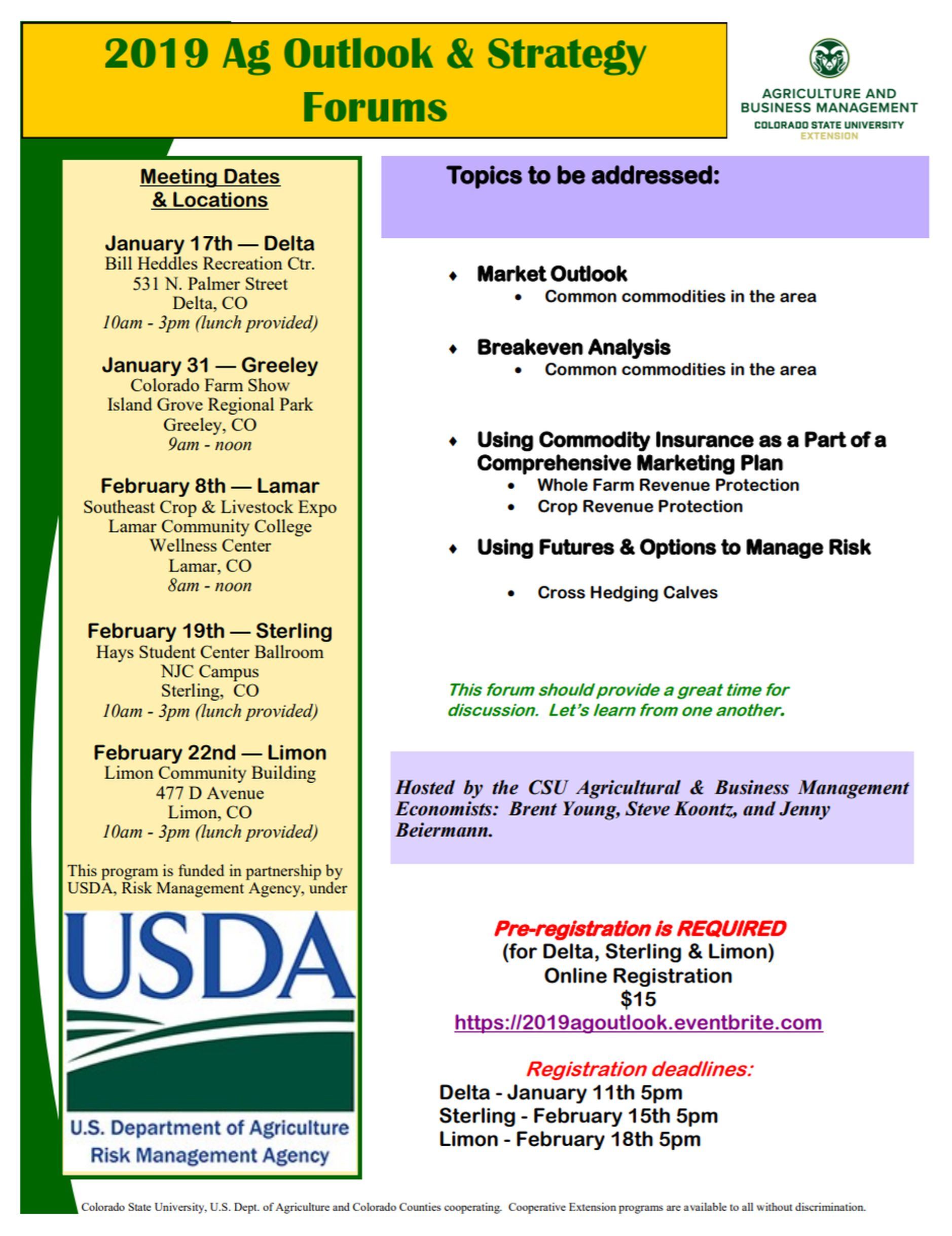 01-18-19 2019 Ag Outlook & Strategy Forums slated for Jan